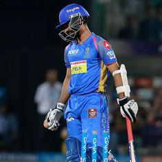 Rajasthan Royals' woes were encapsulated by Ajinkya Rahane's laboured displays at the top