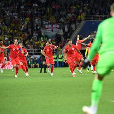 Russia 2018: England end World Cup penalty shootout jinx to edge past Colombia into the last eight