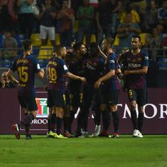 Barcelona give captain Messi a winning start as Dembele winner secures Spanish Supercup