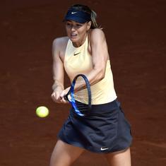 Italian Open: Sharapova battles through rain, defending champ Svitolina, Ostapenko advance