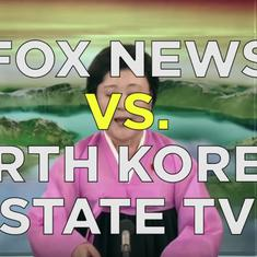 Watch: There's an uncanny similarity in Fox News and North Korea State TV's coverage