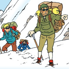 The journey of a Nepali sherpa into the pages of a Tintin comic book