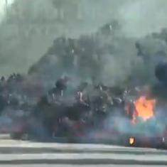Watch: This car was completely consumed by a terrifying wave of lava from the Kilauea volcano