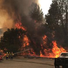 US: Around 2,500 asked to evacuate after wildfire destroys 12 houses in Northern California