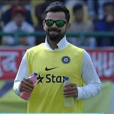 Loudest cheer you'll hear for a man with drinks: Virat Kohli makes his presence felt at Dharamsala