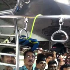 Watch: Commuters panic as snake spotted on Mumbai's local train