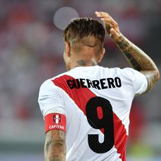 Back from doping suspension, captain Paolo Guerrero scores twice to give Peru 3-0 win