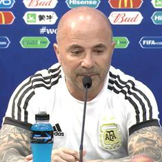 Coach Jorge Sampaoli shown the door following Argentina's dismal World Cup campaign