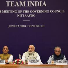 नीति आयोग की बैठक में प्रधानमंत्री बोले - आर्थिक विकास दर को दहाई के अंक तक ले जाने की चुनौती