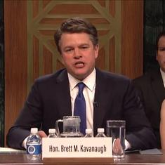 Watch: Matt Damon plays an angry Brett Kavanaugh in Saturday Night Live satirical skit