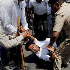 Gujarat: Congress workers detained as they march to Assembly to seek farm loan waivers
