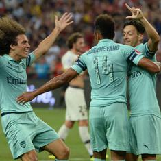 International Champions Cup: Mesut Ozil scores in Arsenal's 5-1 rout of Paris Saint-Germain