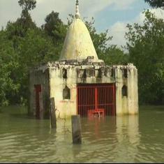 उत्तर प्रदेश : बीते 24 घंटों के दौरान बाढ़ से तीन लोगों की मौत, 232 घर तबाह