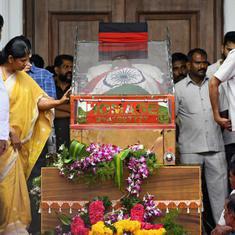 एम करुणानिधि के अंतिम दर्शन के दौरान भगदड़, दो की मौत