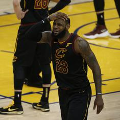LeBron James losing his cool in Game 1 of NBA Finals has become an epic Twitter meme