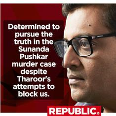 Arnab Goswami says it's 'an oddity' that Sunanda Pushkar chargesheet fails to mention murder