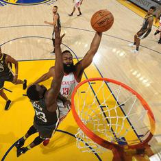 James Harden, Chris Paul help Houston Rockets level series 2-2 against Golden State