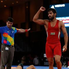 Asian Games 2018, Day 1 round-up: Bajrang Punia gets India's first gold, Sushil Kumar knocked out