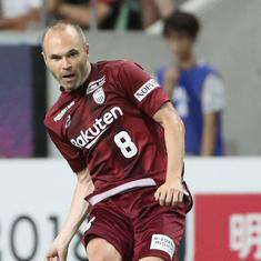 Watch: Iniesta opens J-League account with magical first goal for Vissel Kobe