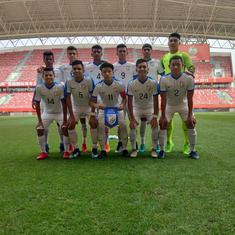 Indian Under-16 team come from two goals down to hold Bangkok Glass U-17 to a 2-2 draw