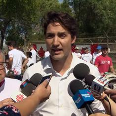 Watch: Justin Trudeau says he 'doesn't remember' groping female reporter 18 years ago