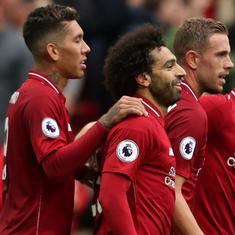 Mohamed Salah returns to scoring ways as Liverpool return to top of the table
