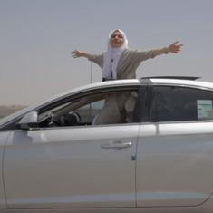 Watch: A Saudi Arabian woman celebrates the lifting of ban on female drivers by rapping about it