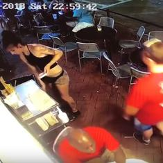 A man assaulted a waitress, and she immediately taught him a lesson that people can't stop watching