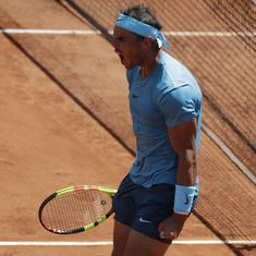 French Open: Nadal battles from a set down to overpower Schwartzman and reach 11th semi-final