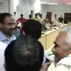 Watch: BJP MLA caught on tape misbehaving with education officer in UP