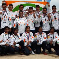 Indian women's team wins gold at Asian Junior Rowing Championships, men's teams bag three medals