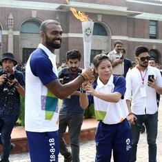 Asian Games torch lit in Delhi, but not before a bit of organisational chaos