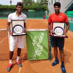 Indian tennis round-up: Vishnu, Sriram and Jeevan make Wimbledon main draw; Ankita loses
