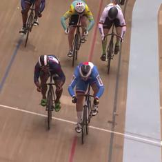 Watch: Esow wins India's first junior cycling WC medal, misses gold by a mere 0.017 seconds