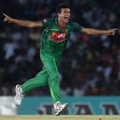 Taskin Ahmed claims hat-trick, Kusal Mendis scores maiden ton before rain washes out second ODI