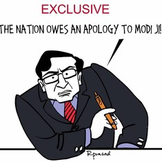 Cartoons and memes are asking Modi the hard-hitting questions that Arnab Goswami didn't