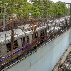 Delhi Metro's Violet Line services disrupted as boundary railing collapses after rainfall
