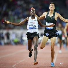 Watch: Conseslus Kipruto wins the Diamond League 3,000m steeplechase final – with one shoe