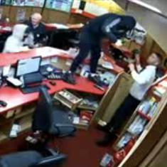 Watch: CCTV cameras captured the moment an 85-year-old fought armed robbers with his bare hands