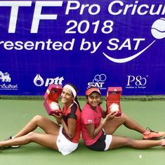 Indian tennis roundup: Rutuja-Pranjala win doubles title, Saketh's run comes to an end