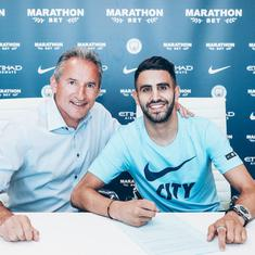 Manchester City finally sign Riyad Mahrez from Leicester after paying club-record £60 million