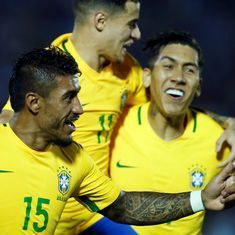 Paulinho hat-trick gives Brazil thumping 4-1 win over Uruguay in World Cup qualifier