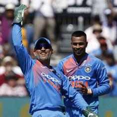 MS Dhoni takes five catches, becomes first player to complete 50 dismissals in T20Is