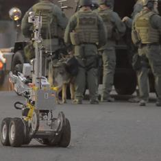Watch: Robots tackle bombs, radioactive sites and obstacle courses at this annual Robot Rodeo