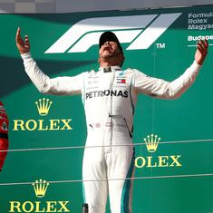 Hungarian GP: Lewis Hamilton wins his fifth race of the season, extends lead to 24 points