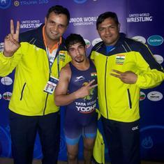 Junior World Wrestling C'ship: Naveen shocks defending champion Daton, Mansi clinches bronze