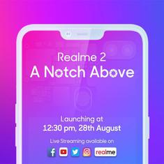 Realme 2 India launch date set for August 28th, Realme 2 to get big battery, notch, two rear cameras