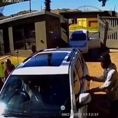 Watch: A brave woman scared away armed attackers by ramming her car into theirs
