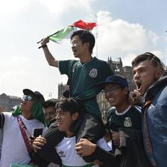 Watch: Mexico fans just can't get enough of South Koreans after Germany's World Cup exit