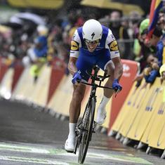 Tour de France: Philippe Gilbert crashes, fractures his knee-cap, rides 57 kilometres towards finish